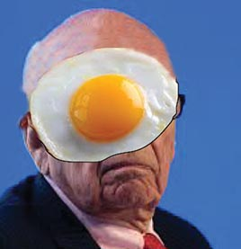 rupert with egg on face