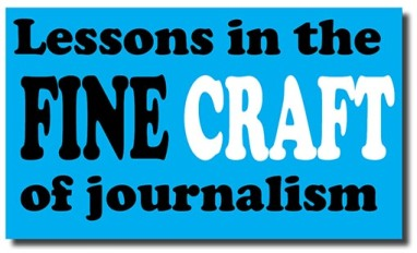 lessons in journalism