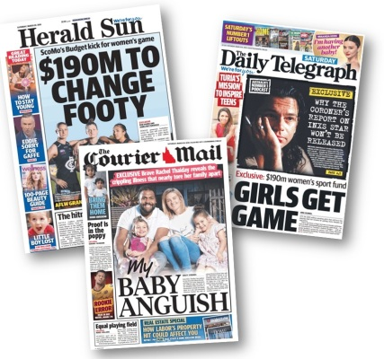 three front pages