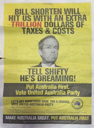 tell shifty - palmer ad on election day - net