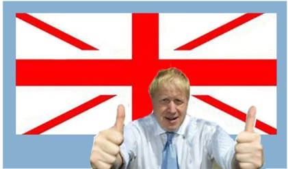 boris with new uk flag - net