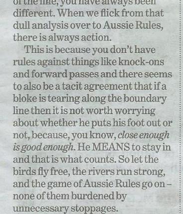 fitz column on AFL rules - detail - net