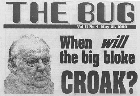 when will the big bloke croak - net