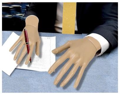 desk hands