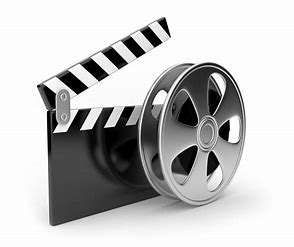movie clapper board and reel