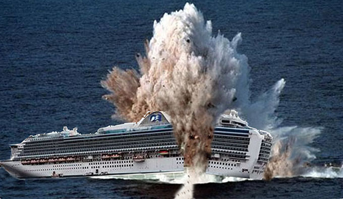 ruby princess blowing up- net