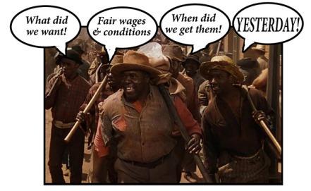 black workers singing - net
