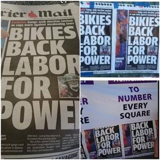 bikies back labor for power - net