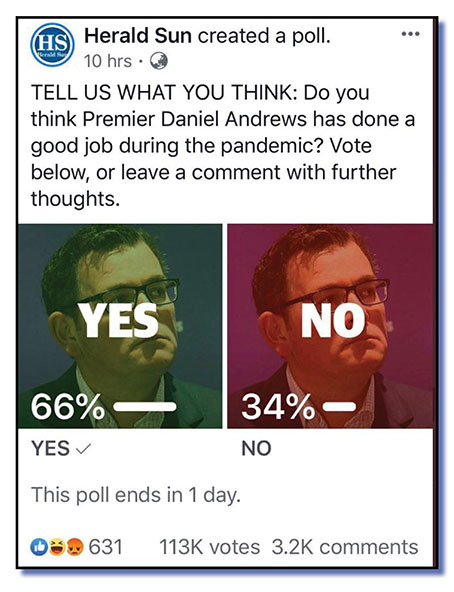herald sun poll on andrews - net